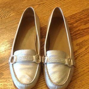 Coach loafers Gold US9/EU40 EUC
